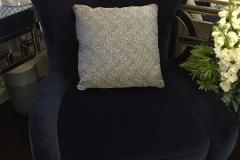 Hampton Manhattan Blue Velvet Chair