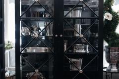 Hampton 2 Door Display Cabinet Black