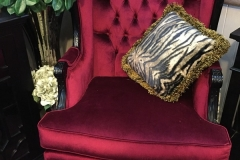 Hampton Custom Red Velvet Chair