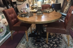 Hampton Round Parquetry Table